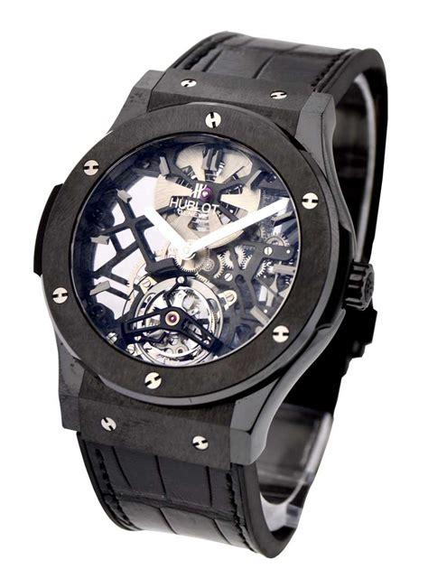 Hublot Classic Fusion Turbillon Silver Black Leather 1 505 cm 0140 lr hublot classic fusion 45mm ceramic essential watches