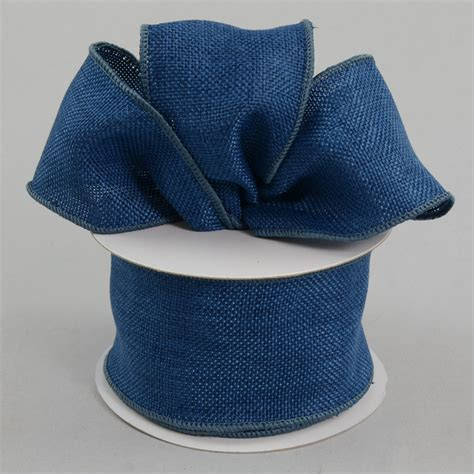 Denim Ribbon 2 5 quot faux burlap ribbon denim blue 10 yards rdjb62 13