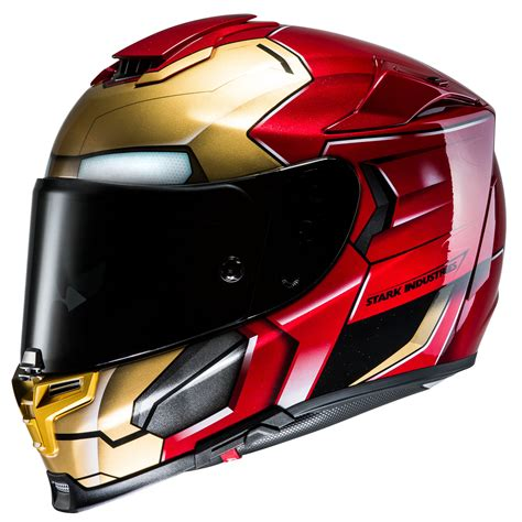 Iron Man Motorradhelm by Casque Hjc Rpha 70 Iron Man Homecoming Marvel Casque