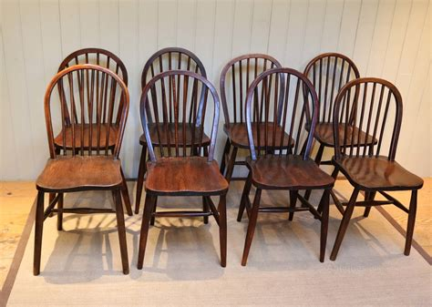 Set Of Eight Beech Elm Dining Chairs Antiques Atlas Elm Dining Chairs