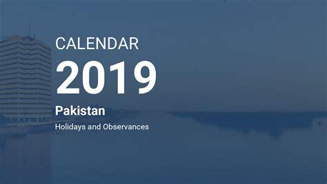 year  calendar pakistan