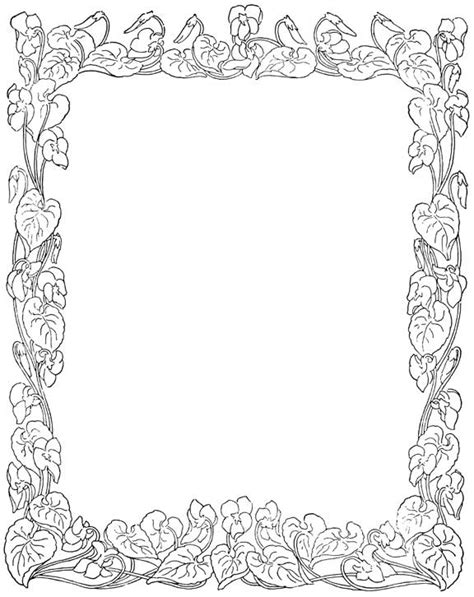 free coloring page borders free princess borders clipart best