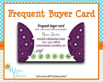 frequent buyer card template scentsy logo