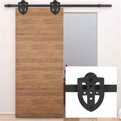 Interior Sliding Door Kit New 6ft Sliding Slide Barn Door Hardware Only Kit Interior Modern Cross Style Ebay