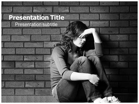 depression powerpoint template depression ppt template depression powerpoint themes