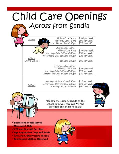 Daycare Flyers Printables Easy Marketing Ideas For Flyers I Own Day Care