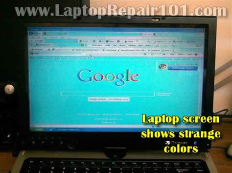 screen shows strange colors laptop repair 101