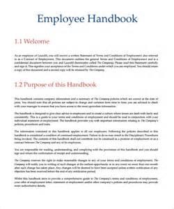 Small Business Employee Handbook Template Employee Handbook Sample 7 Download Documents In Pdf Word