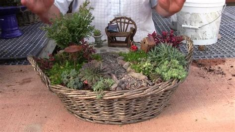 miniature gardening com cottages c 2 planting a miniature garden container youtube