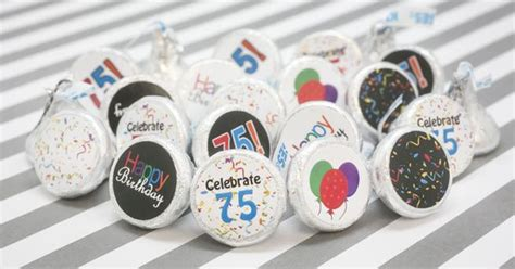 75th Birthday Giveaways - multi colored 75th birthday party favor stickers set of 324 75th birthday parties