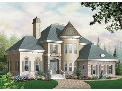 turret house plans bailey place european home plan 032d 0435 house plans