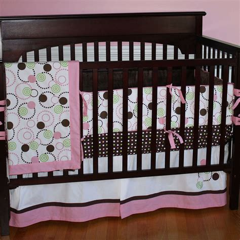 Brown And Pink Crib Set Time Pink Brown And Green Pink Polka Dot Crib Bedding