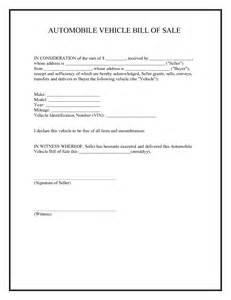 free printable car bill of sale form generic