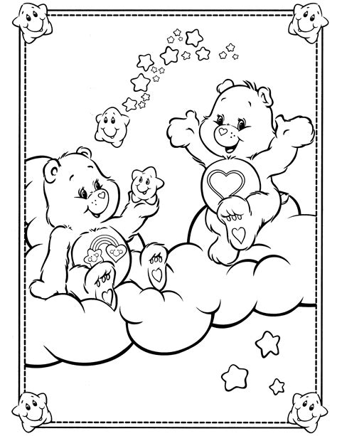 Couple Care Bears Coloring Pages Coloringsuite Com Care Coloring Page