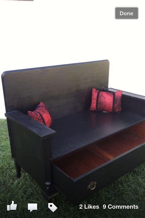 antique repurposed dresser bench sale