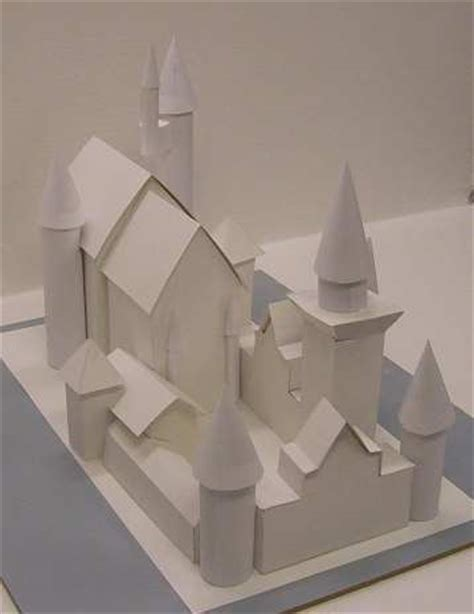 How To Make A Paper Castle Easy - make paper and cardboard castle neuschwanstein