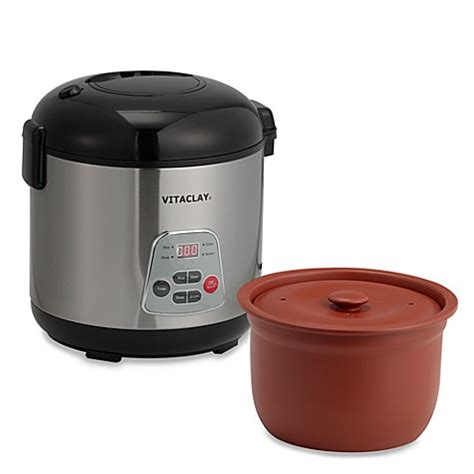 Rice Cooker Ultima vitaclay 174 essenergy 6 cup rice n cooker bed bath beyond