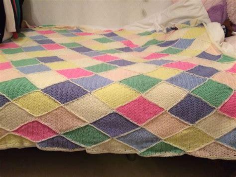 Sprei Disperse Uk 160x200 Motif Purple sprei gehaakt voor mijn dochters bed breien haken bedding