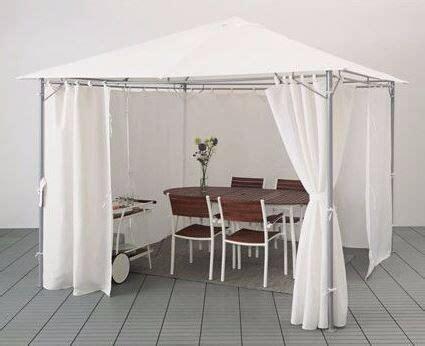 karlso gazebo gazebo with curtains karls 214 white from ikea in clapham