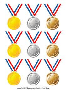 printable paper medals olympic medals with ribbon