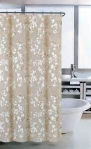 White And Beige Curtains Beige Fabric Shower Curtain Images