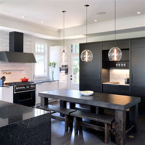 White And Black Kitchen Designs by Deslaurier Custom Cabinets Ottawa Kitchens Kitchen