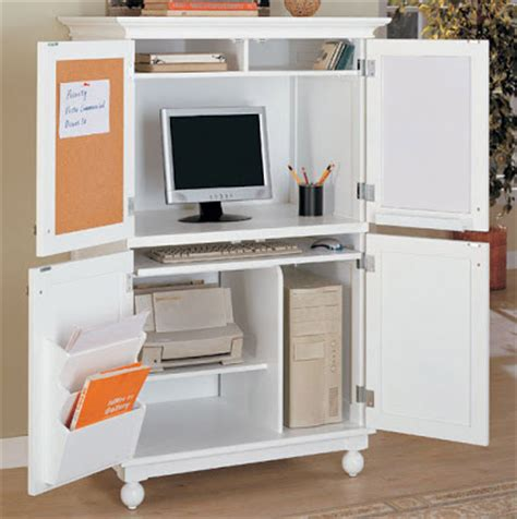 home office computer cabinet white louvered design best