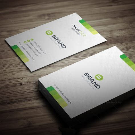 Horizontal Business Card Template by Horizontal Vertical Business Card Template 000270