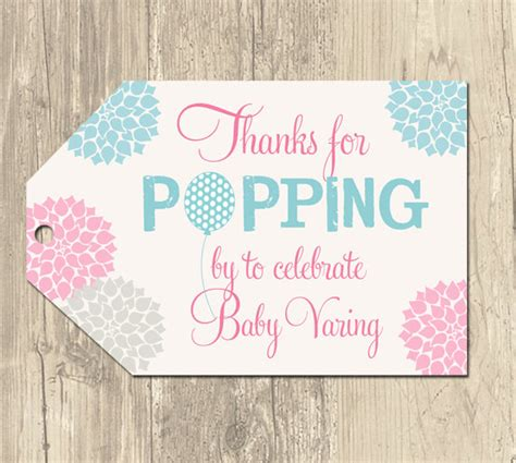 printable labels for baby shower favors ready to pop balloon baby shower favor tags printable by