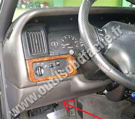 Jeep Diagnostic Prise Obd2 Dans Les Jeep Grand Zj 1992 1998
