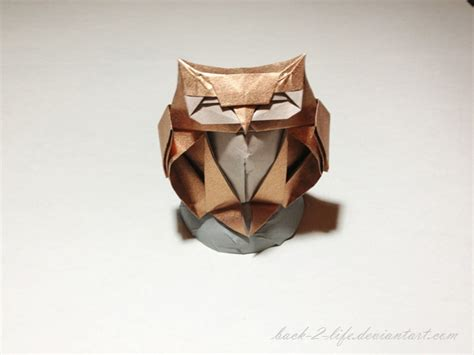 Owl Origami - owl origami by back 2 on deviantart