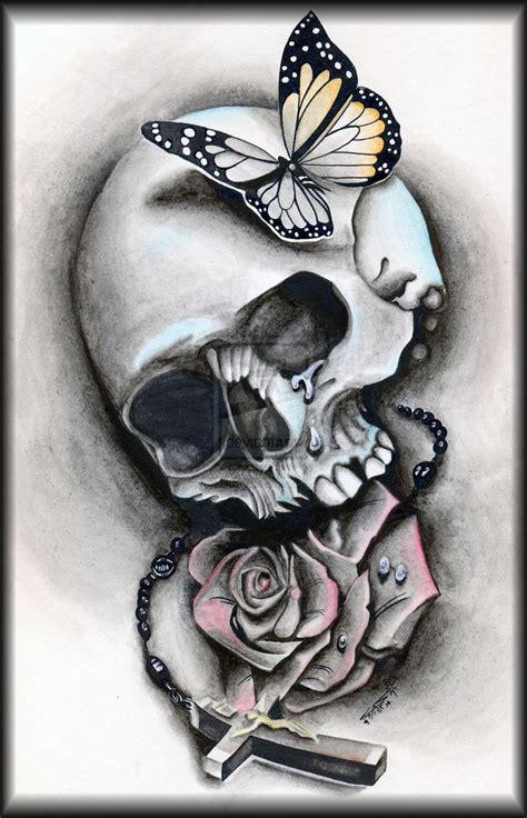 skull butterfly rose tattoo 73 best ideas ღ images on ideas