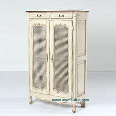 Lemari Rotan Glass Cabinet Display Almari Model Jengki Almari Pajangan