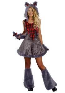wolf halloween costume for girls teen full moon sassy werewolf costume