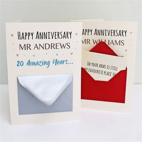 secret card messages personalised anniversary secret messages card by give