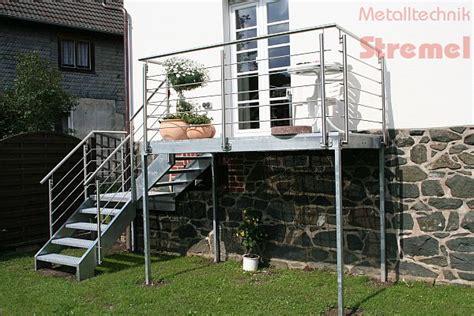 geländer terrasse verzinkt idee treppe fenster