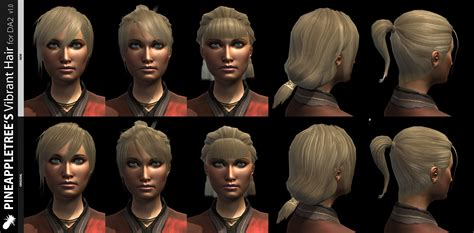 dragon age more hairstyles and vibrant colors pineappletree s vibrant hair for da2 dragon age ii mods