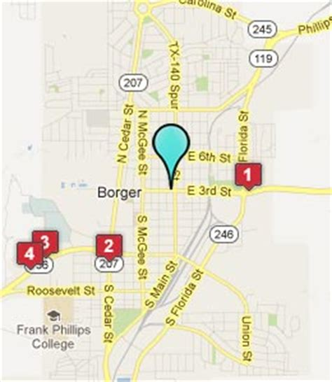 map of borger texas borger texas hotels motels see all discounts
