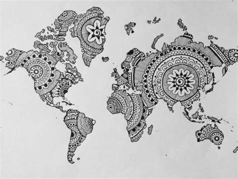 mandala tattoo zum aufkleben mandala zum ausdrucken landkarte welt kreativ