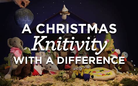 a christmas knitivity with a difference top crochet