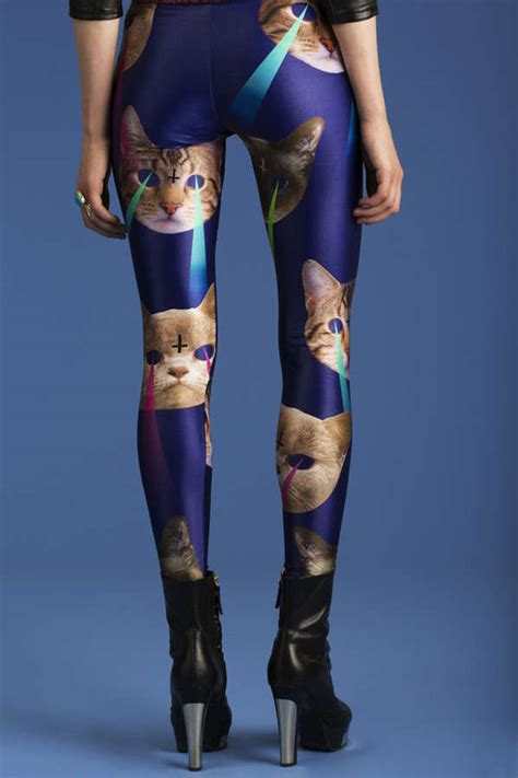 sci fi feline tights laser cat leggings