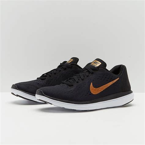 Sepatu Running Original Nike Flex 2017 Rn Black Violet nike boys flex 2017 rn running black metallic gold white 904236 007