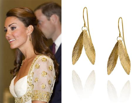 replikate review gold leaf earrings for the copper leaf