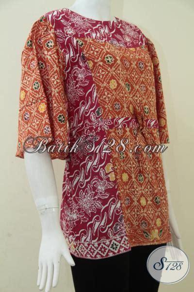 Wedges Murah Trendy Dan Nyaman Dipakai Wanita Motif Belang Sdw71 model baju batik wanita yang nyaman dipakai model batik