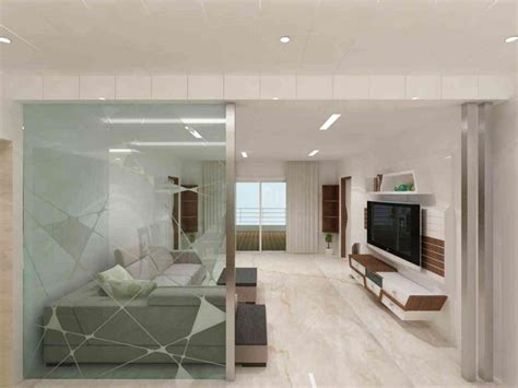 Glass Partition For Living Room glass partition design living room interior design