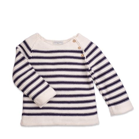 Jumper Size 3m s knitwear white and navy blue striped