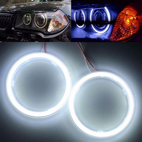 Eye Cob Bmw Style 110 Mm pair 12v 110mm 81smd cob ring car headlight outside halo ring warning ls sale