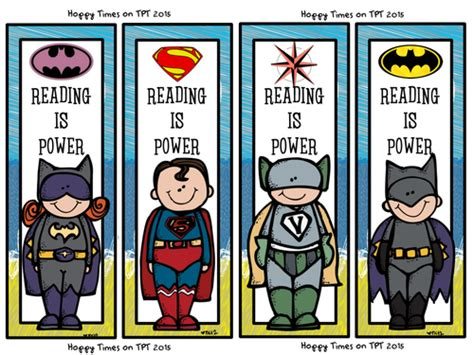 printable batman bookmarks 8 super hero bookmarks hulk batman superman by