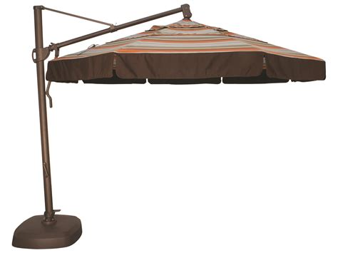 Treasure Garden Cantilever Aluminum 11 Foot Wide Crank Treasure Garden Patio Umbrellas