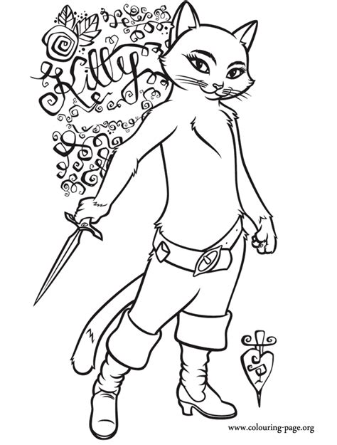 Puss In Boots Coloring Pages puss in boots softpaws coloring page